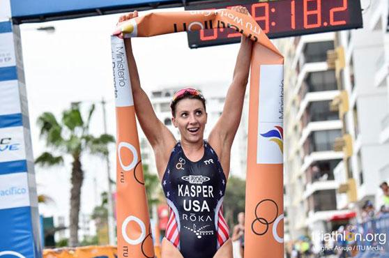 Kristin Kasper finish